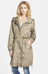 Vera Wang Oversized Hooded Coat Taupe
