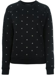 Diesel Star Stud Sweatshirt Black