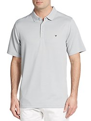 Callaway Bird Hairline Striped Polo Shirt High Rise
