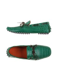 Etro Footwear Moccasins Men Emerald Green
