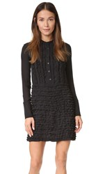 Cynthia Rowley Ruffle Drop Waist Dress Black
