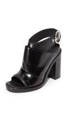 Maison Martin Margiela Open Toe Booties Black Black
