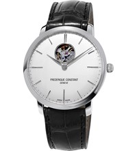 Frederique Constant Fc 312S4s6 Slimline Stainless Steel And Leather Watch