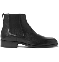 Tom Ford Wilson Full Grain Leather Chelsea Boots Black