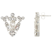 Cabinet Sterling Silver Plated Grand Paradisia Crystal Earrings