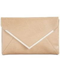 Inc International Concepts Lily Glazed Clutch Only At Macy's Tan