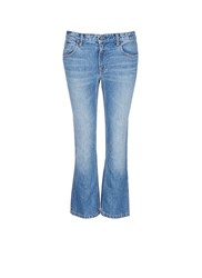 Alexander Wang 'Trap' Light Wash Crop Flare Jeans Blue