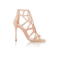 Sergio Rossi Puzzle Back Zip Sandals Honey Crea