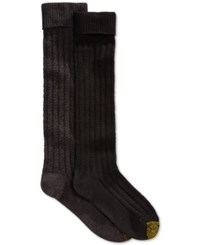 Gold Toe Women's Touch Stitch Knee High Socks 2 Pack Grey Marl