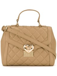 Love Moschino Small Quilted Tote Brown