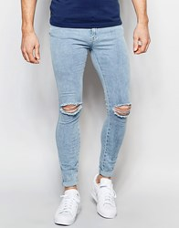 Dr. Denim Dr Denim Jeans Dixy Extreme Super Skinny Ripped 80S Stone Wash 80S Stone Blue