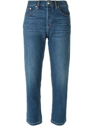 Marc By Marc Jacobs Cropped Boyfriend Jeans Blue