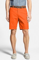 Men's Big And Tall Bobby Jones Stretch Cotton Flat Front Shorts Tangerine
