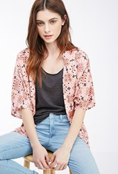 Forever 21 Abstract Print Dolman Cardigan