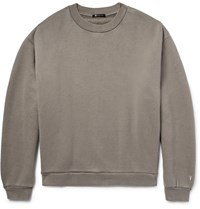 Alexander Wang T By Oversized Cotton Blend Jersey Sweatshirt Gray