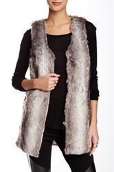 Romeo And Juliet Couture Faux Fur Vest Gray