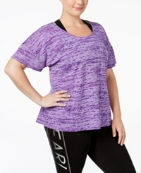 Material Girl Plus Size Mesh Back Space Dyed T Shirt Only At Macy's Purple Party