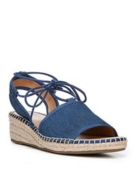 Franco Sarto Liona Denim Jute Wedge Sandals