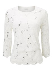 Eastex Ivory Lace Top Ivory