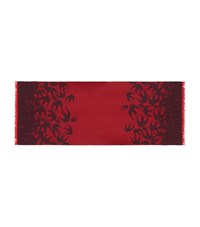 Mcq By Alexander Mcqueen Swallow Scarf Unisex Red