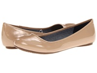 Dr. Scholl's Friendly Caravan Sands Patent Women's Flat Shoes Beige