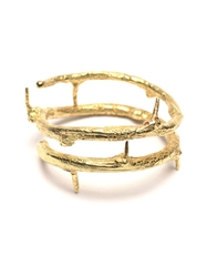 Wouters And Hendrix Gold 'Thorn' Ring Metallic