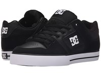 Dc Pure Black Black White Men's Skate Shoes