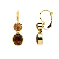 Monet Gold Topaz And Champagne Drop Earrings