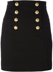 Balmain Sailor Mini Skirt Black