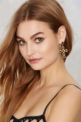 Nasty Gal Cross Boss Beaded Earrings