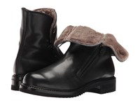 Gravati Double Zip Ankle Boot With Shearling Lining Butter Calf Black Women's Boots