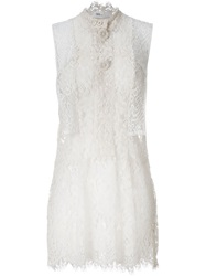Toga Lace Sleeveless Dress White