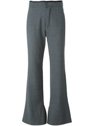 Erika Cavallini 'Olive' Flared Trousers Grey