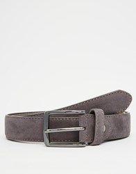 New Look Belt In Faux Suede Charcoal