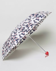 Lulu Guinness Superslim Envelope Print Umbrella Envelope Print Black