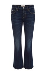 Amo True Blue Flared Mid Rise Jane Jeans Dark Wash