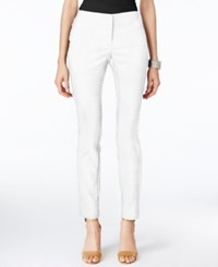 Alfani Snakeskin Print Skinny Ankle Pants Only At Macy's Bright White