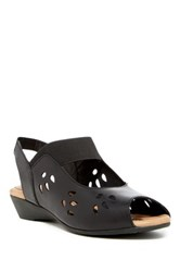 J. Renee Abner Leather Slingback Wedge Wide Width Available Black