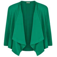 Planet Edge To Edge Cardigan Mid Green