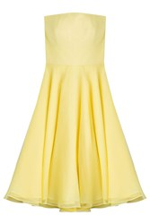 Alexander Mcqueen Silk Dress Yellow