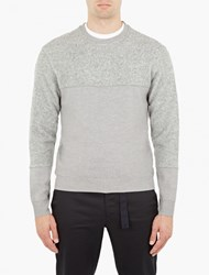 Wooyoungmi Grey Panelled Sweatshirt