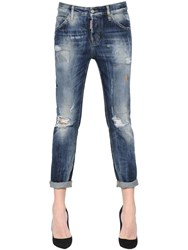Dsquared Cool Girl Washed And Patched Denim Jeans