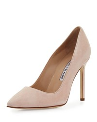 Manolo Blahnik Bb Suede 105Mm Pump Candy Pink