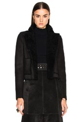 Proenza Schouler Curly Shearling Coat In Black