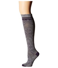 Smartwool Lingering Lace Knee Highs Light Gray Heather Women's Knee High Socks Shoes