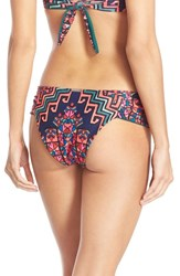 Mara Hoffman Women's Ruched Cheeky Bikini Bottoms Bolnisi Rug Purple