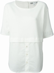 Y 3 Contrasting Panel T Shirt White