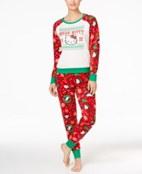 Hello Kitty Holly Jolly Christmas Pajama Set Fairisle