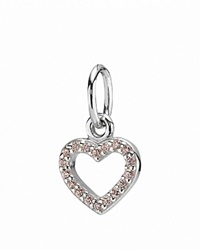 Pandora Design Pandora Pendant Sterling Silver And Pink Zirconia Be My Valentine Silver Pink