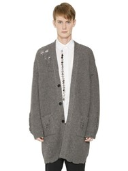 J.W.Anderson Oversize Destroyed Wool Blend Cardigan